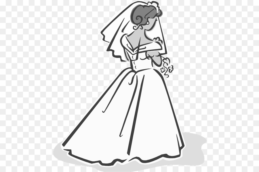 Wedding Dress Drawing clipart.