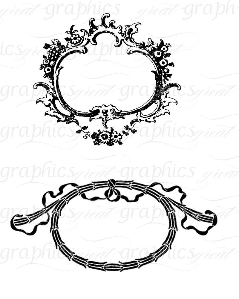 Digital Frame Clip Art Frame Wedding Clipart Digital Scrapbook Frame  Clipart Printable Frame.