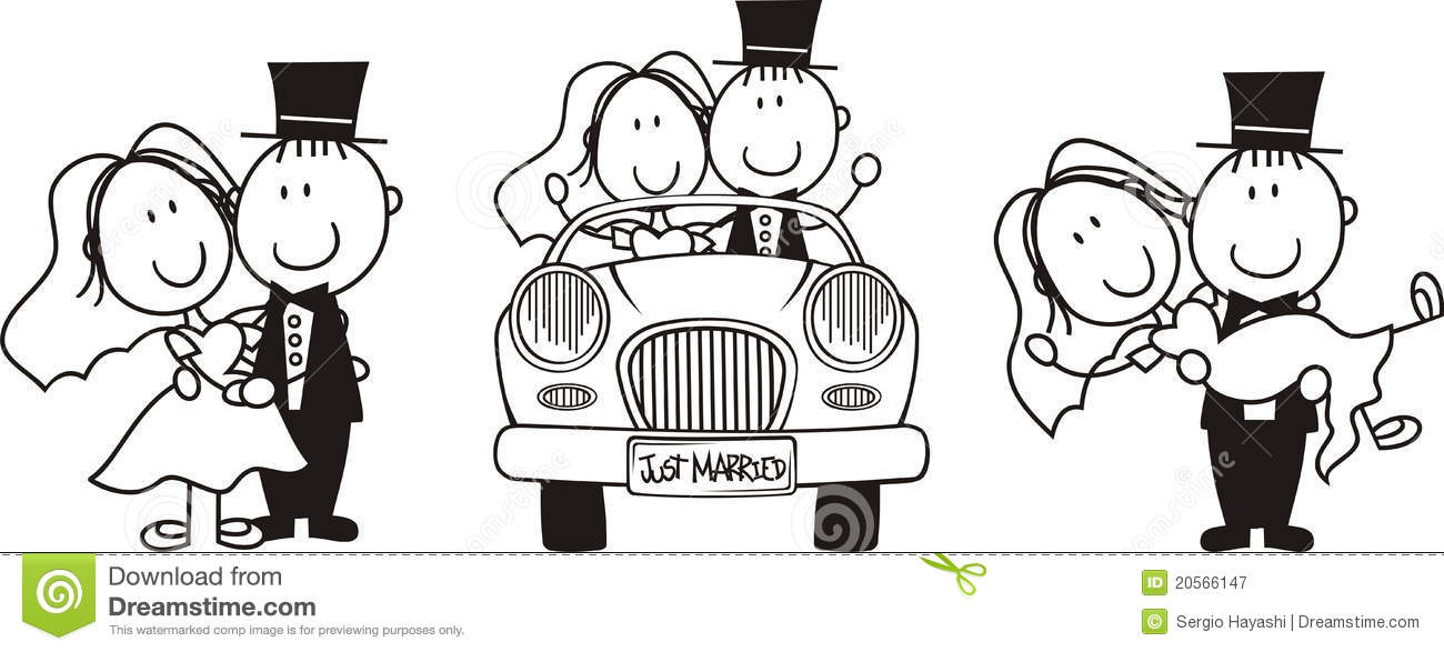 Bride And Groom Clipart Funny.