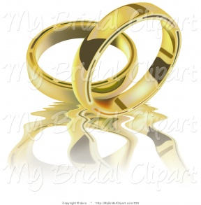Wedding Clipart Gold.