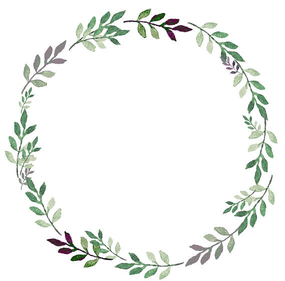 Greenery Wreath Clipart.