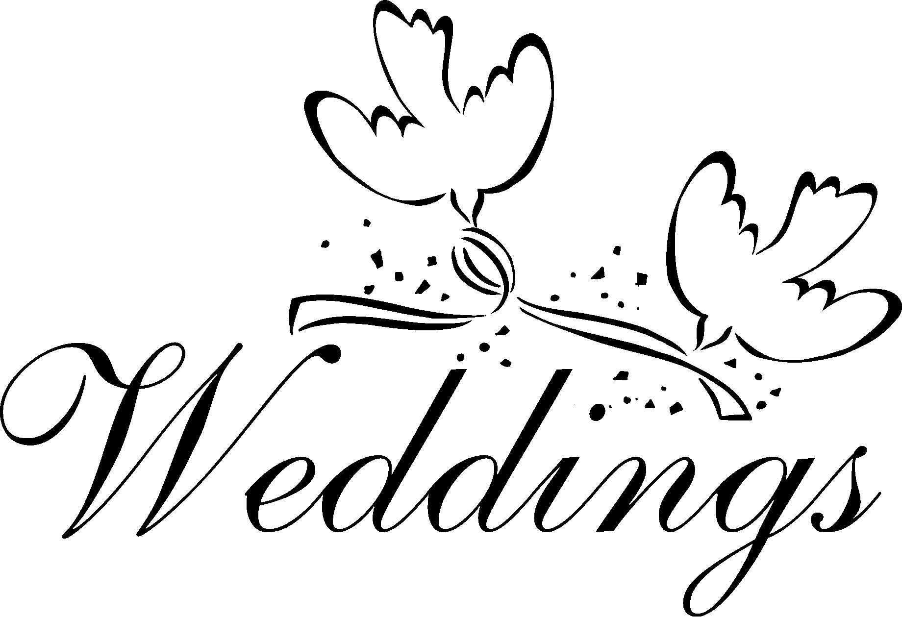 Wedding PNG Clipart, Bride And Groom Transparent PNG Images.
