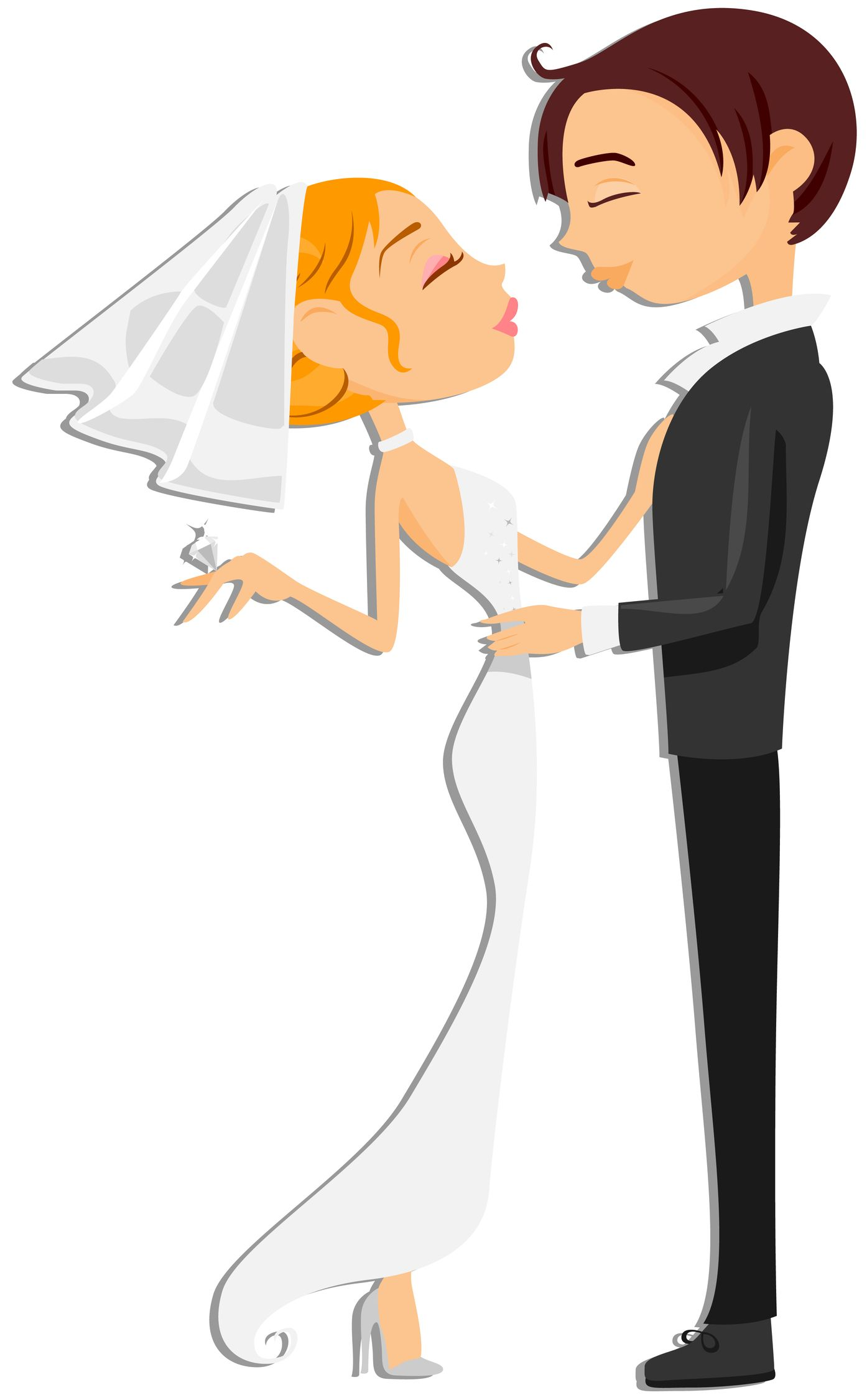 Pix For > Wedding Cartoon Couple.
