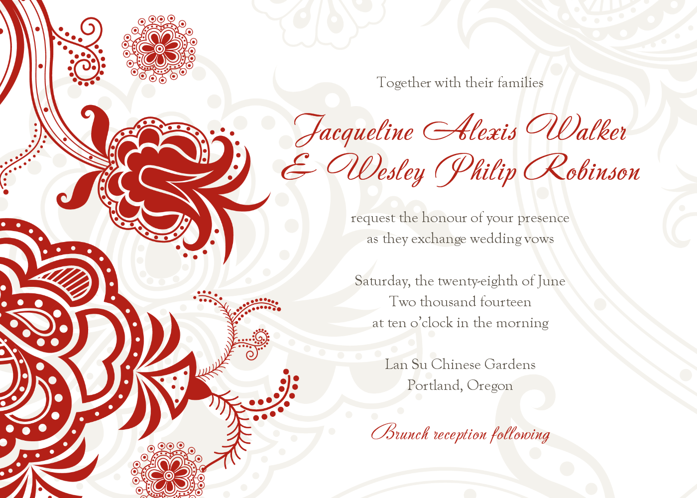 Chinese Wedding Invitation.