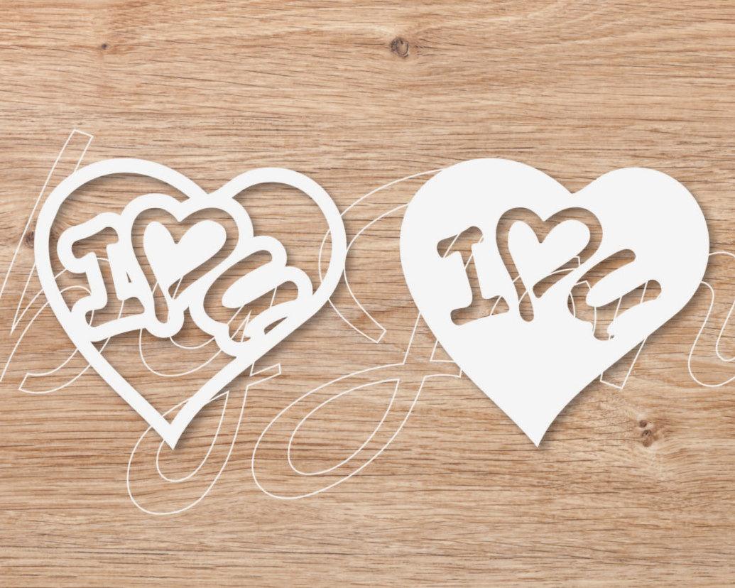 091 DOWNLOAD I love you dxf sag jpg pdf png file wedding clipart.