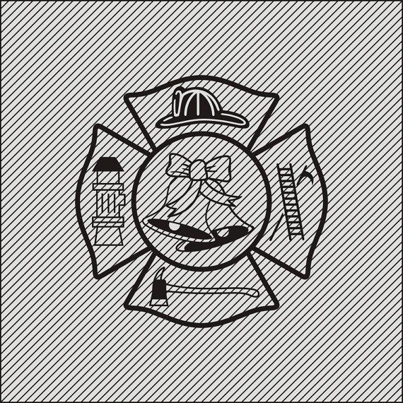 Firefighter Wedding clipart.