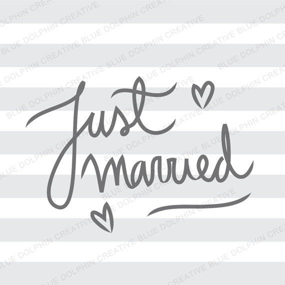 Just Married SVG png pdf / Cricut Silhouette cutting files /.