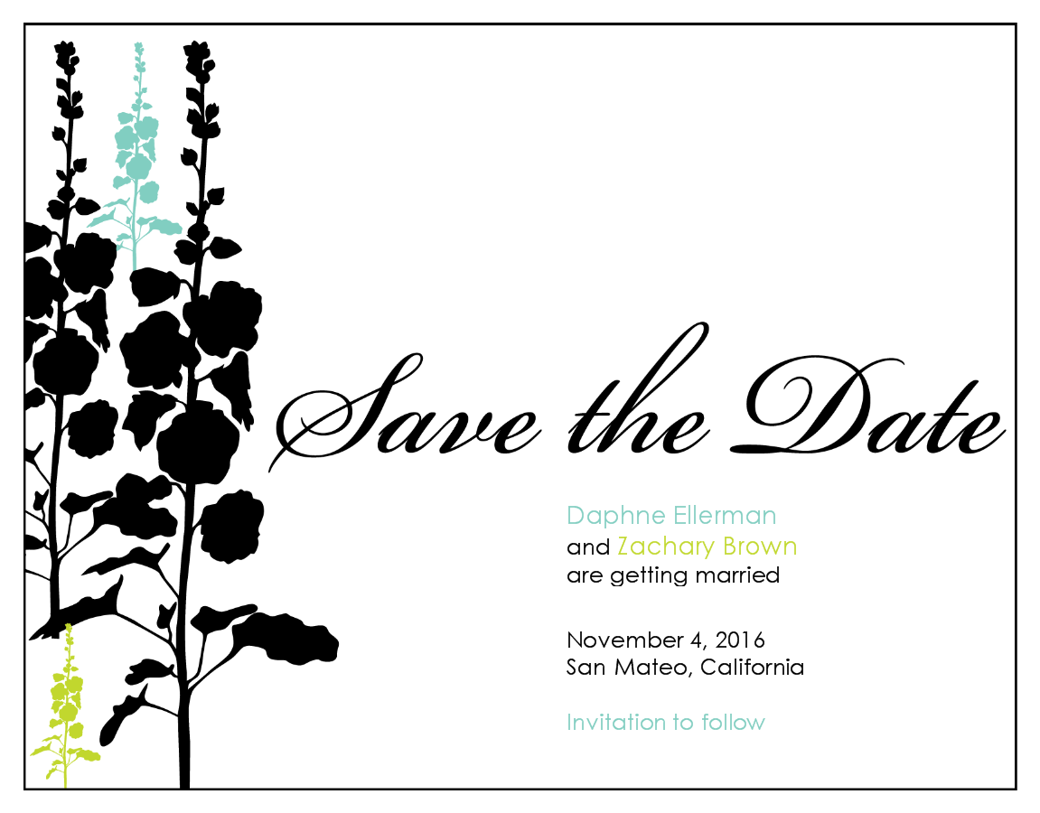 Save the Date Wedding Card.