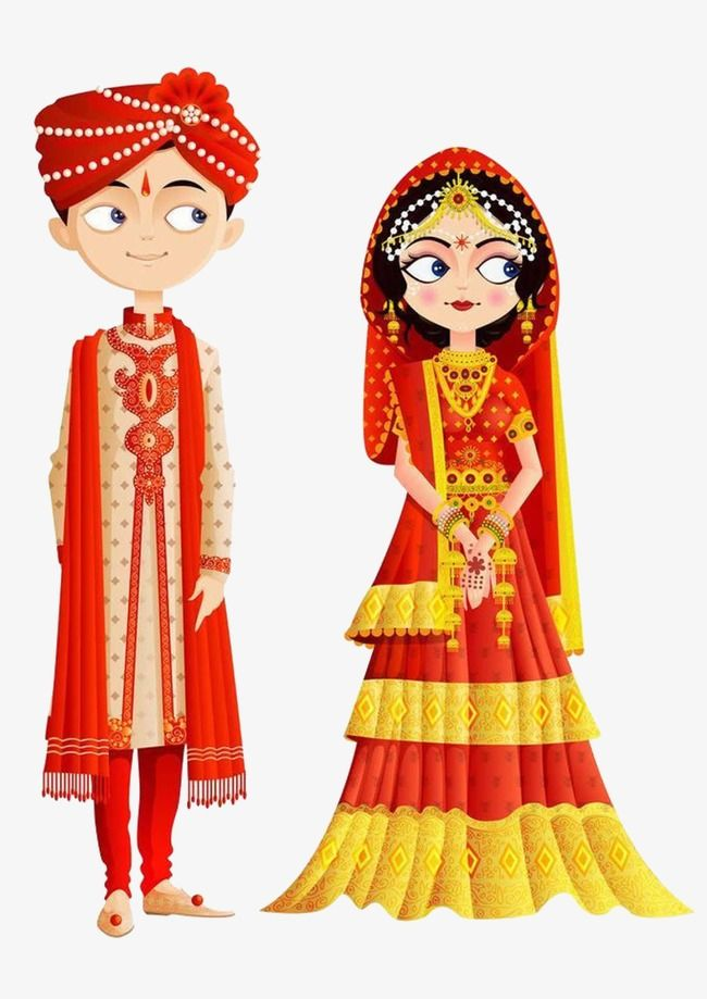 Traditional Indian Wedding, Indian Clipart, Wedding Clipart.