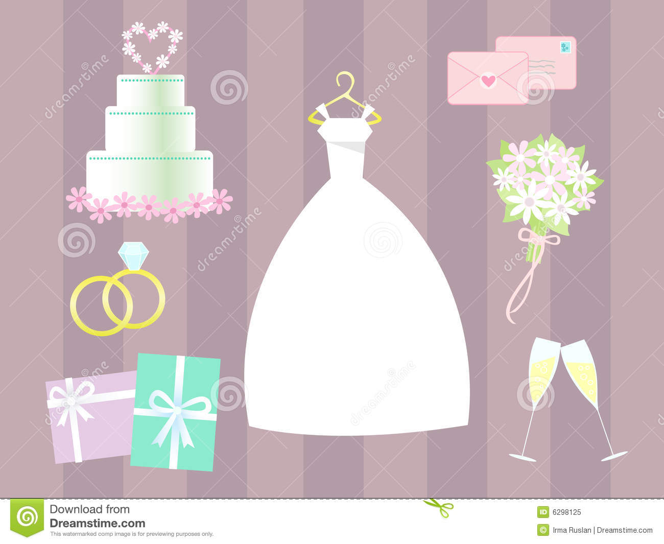 Vector Wedding Clip Art Royalty Free Stock Photo.