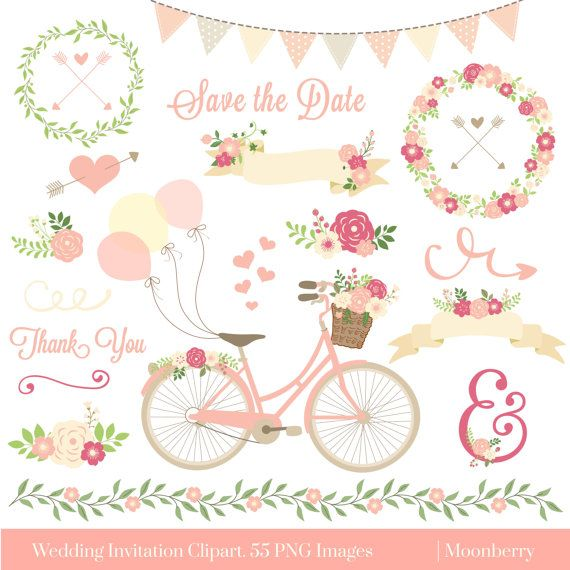 Wedding Invitation Clipart \