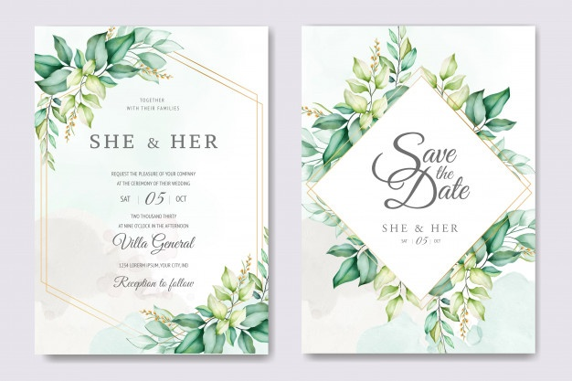Wedding Invitation Vectors, Photos and PSD files.