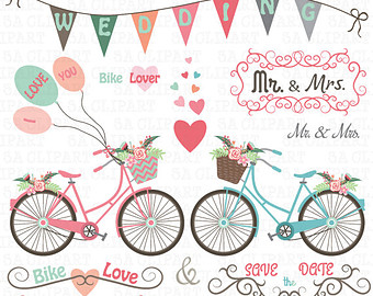 ON SALE40% Watercolor wedding clipart: