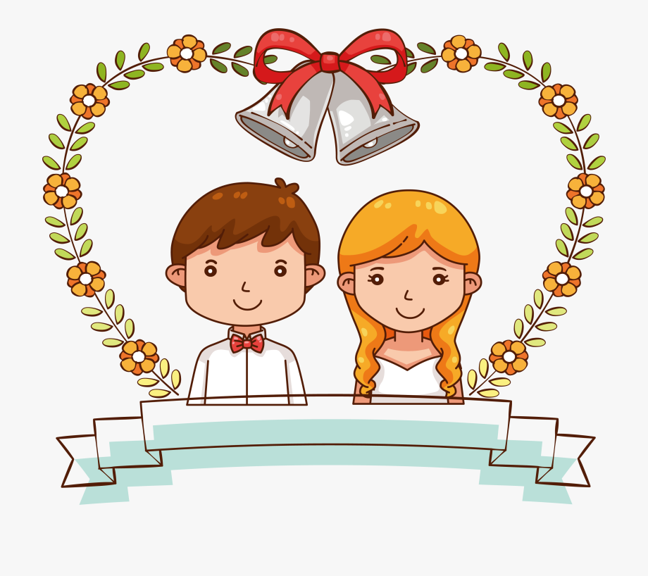 Groom Clipart Marry With Children.