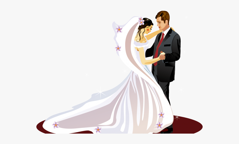 Bride Clipart Ballroom Dress.