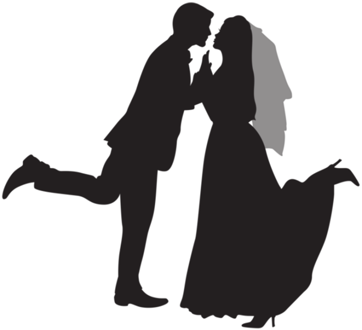 Wedding Couple Clipart Art.
