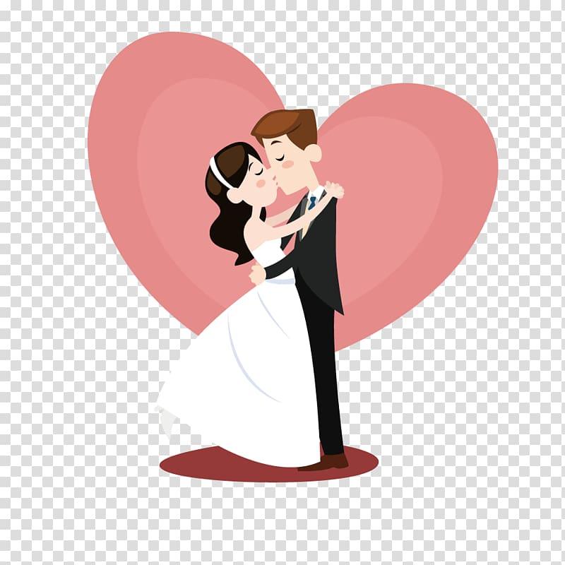 Wedding couple illustration, Wedding invitation Marriage.