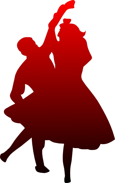 Dancing Couple Red To Black Clip Art at Clker.com.