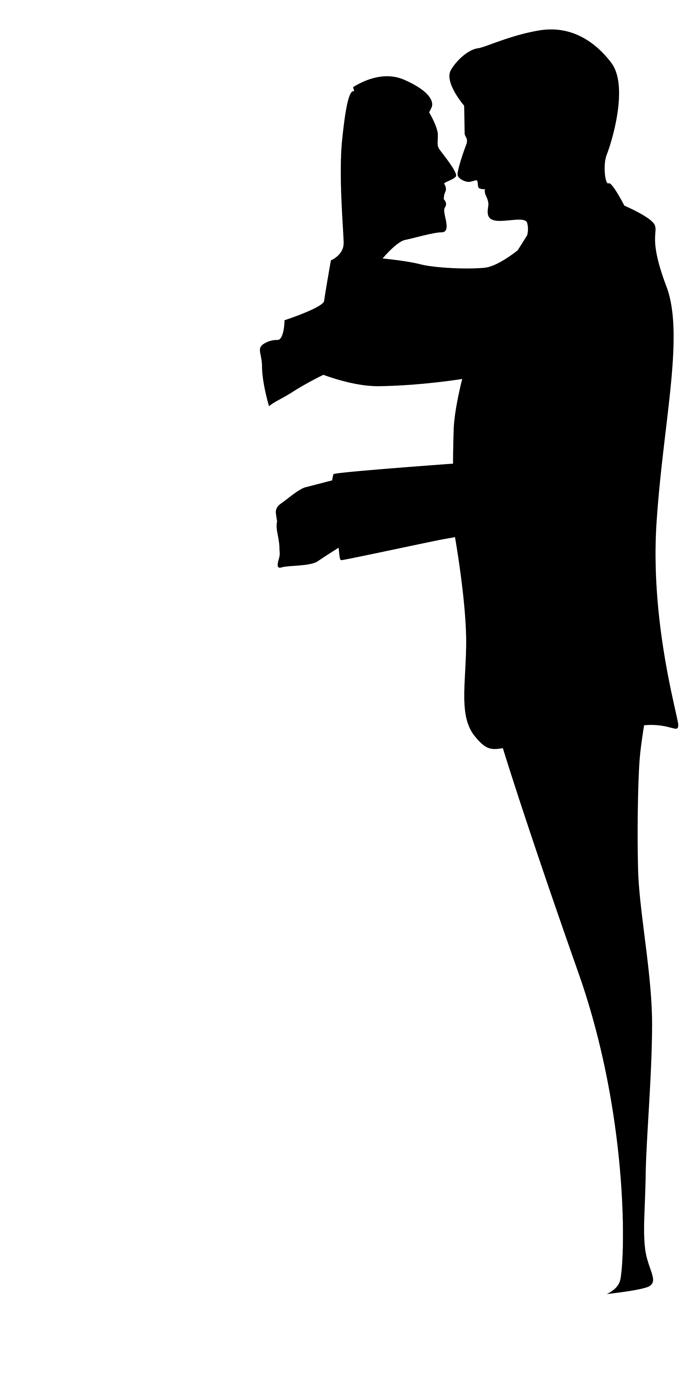 Wedding Couple Silhouettes Clip Art.