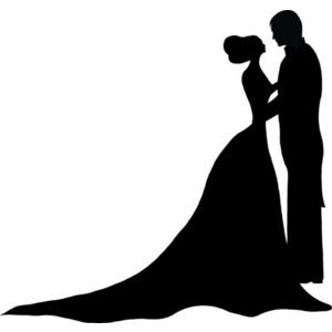 Silhouette Couple Wedding.