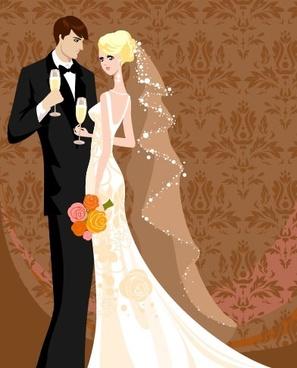 Wedding couple vector free vector download (2,335 Free.
