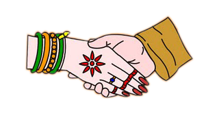Indian Wedding Holding Hands Clipart.