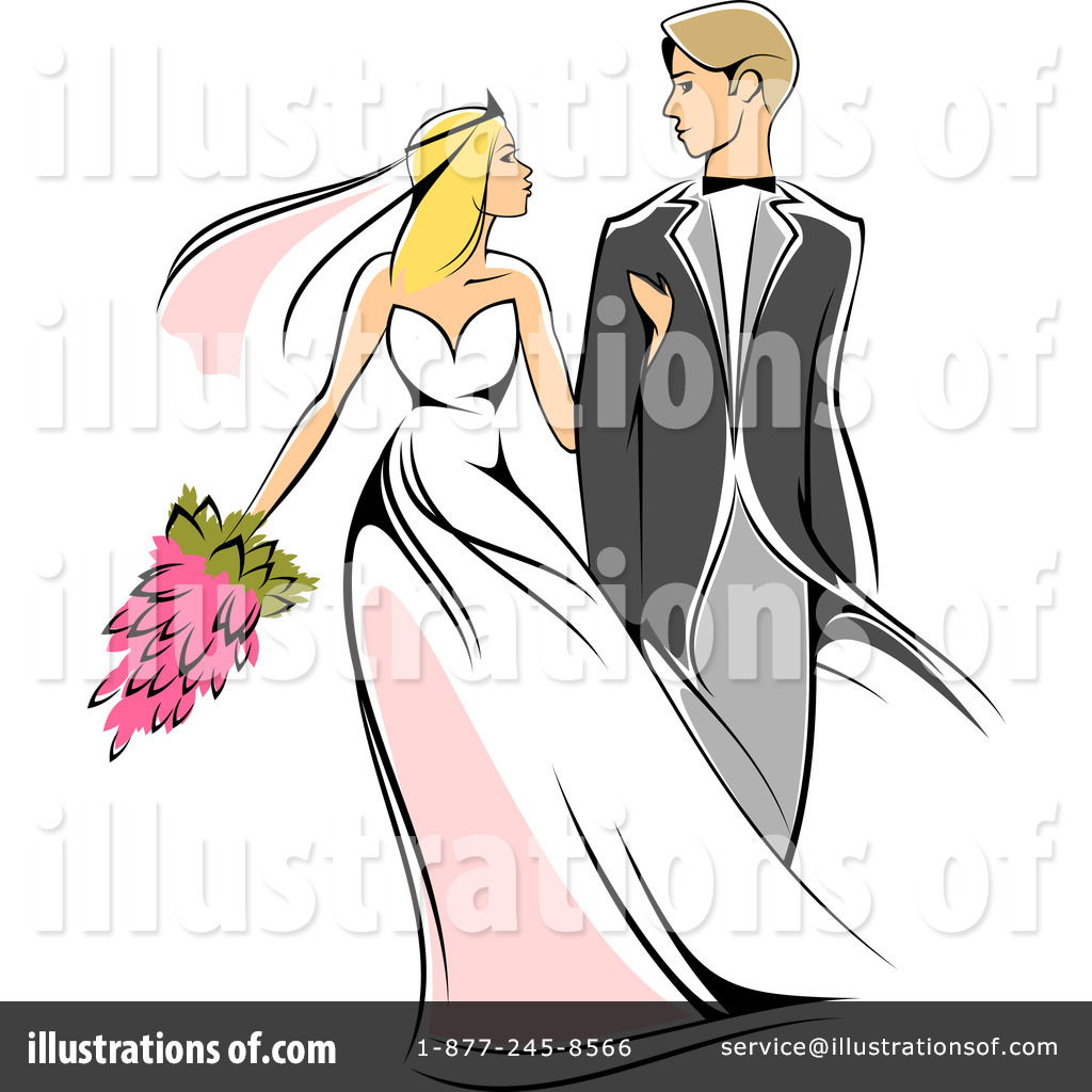 Wedding Couple Clipart #1064911.