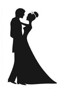 Wedding+Couple+Silhouette.