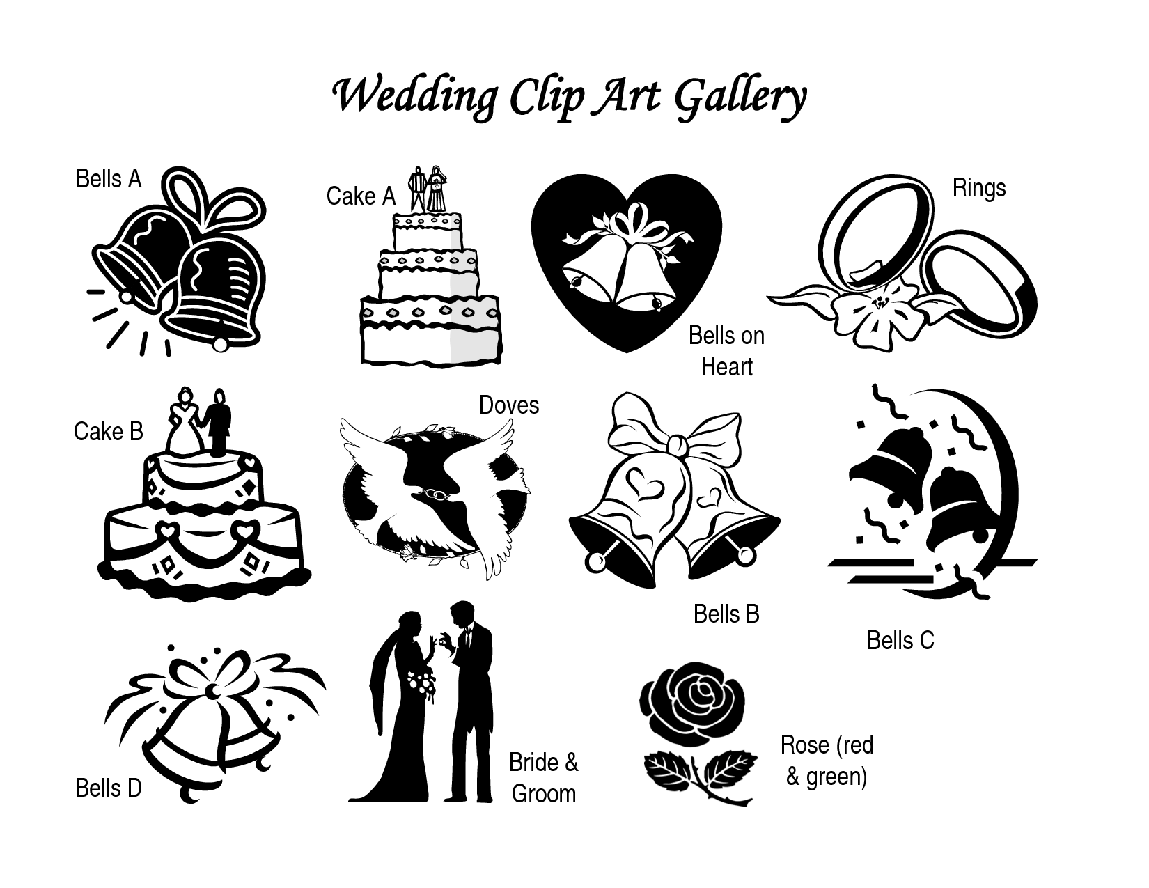 Couple Wedding Clipart.