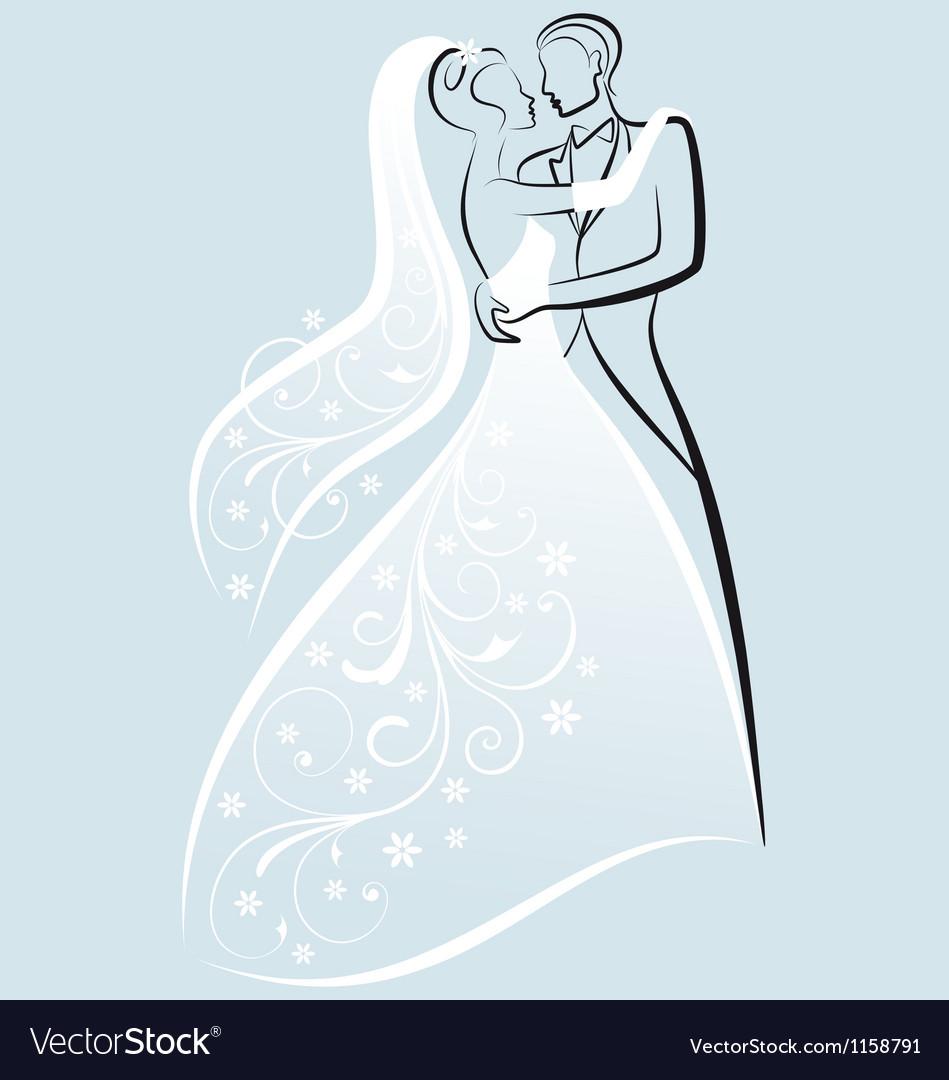 Bride and bridegroom wedding couple.