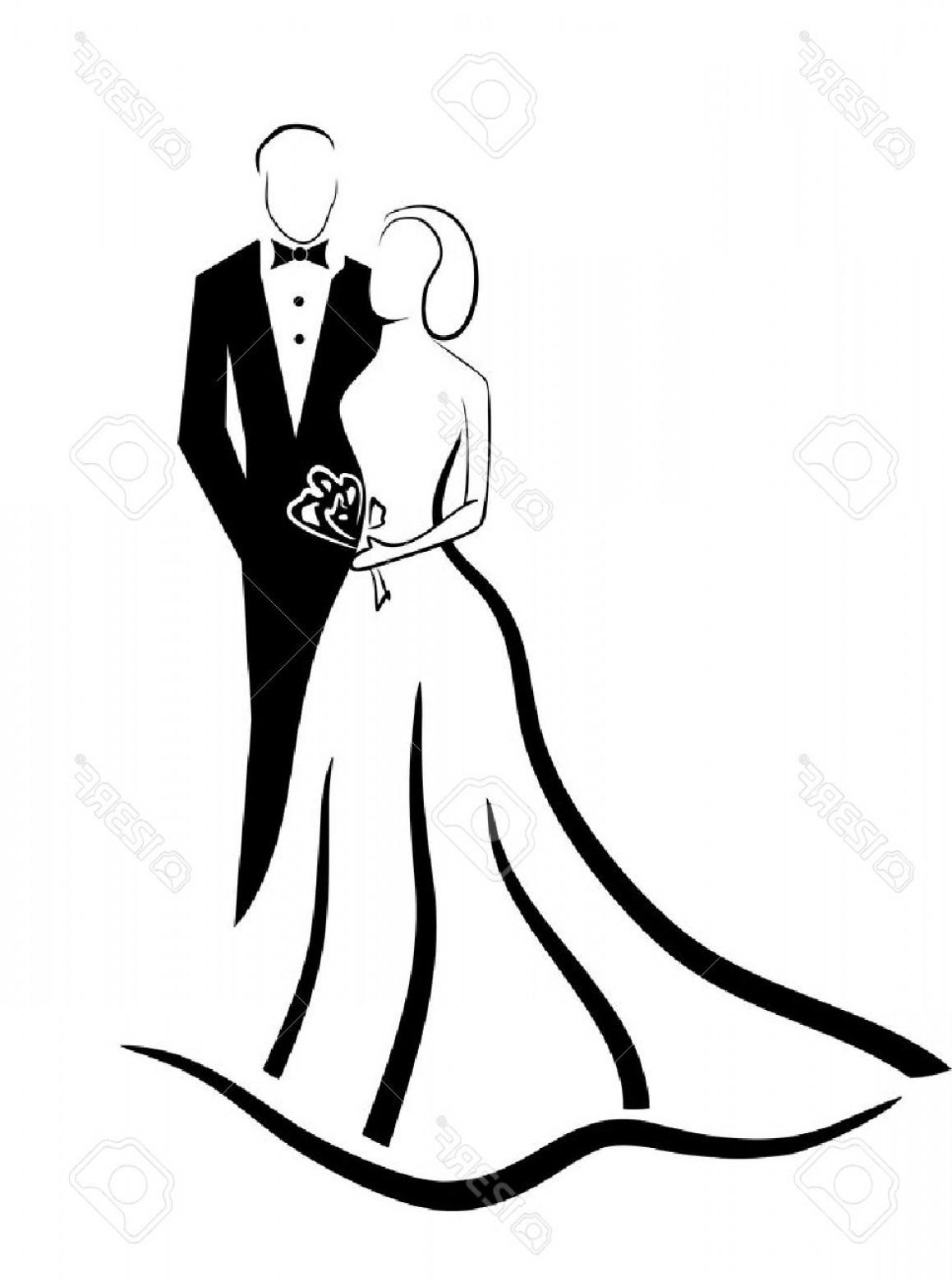Photostock Vector Wedding Couple Vector Eps.
