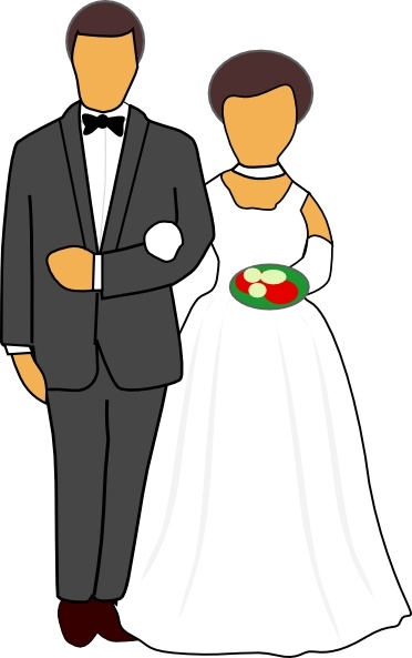 Wedding Couple clip art Free vector in Open office drawing.