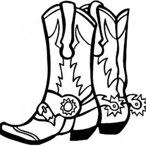 Wedding Cow Boy Boots Black Adn White Clipart Clipground
