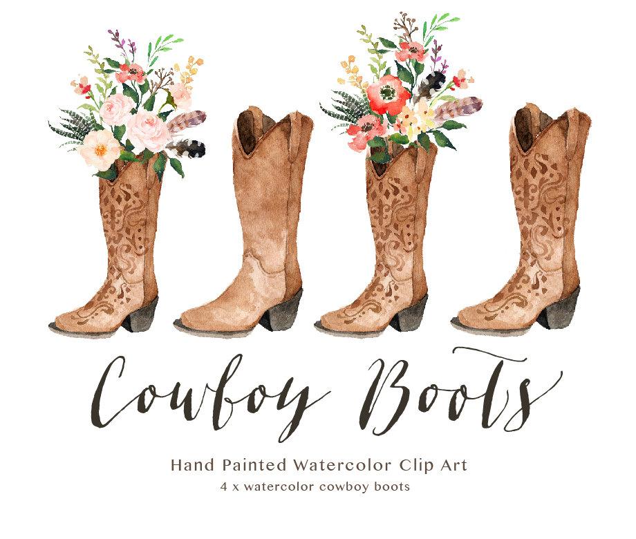 wedding cow boy boots clipart 1 - Cowboy Boot Vase Wedding