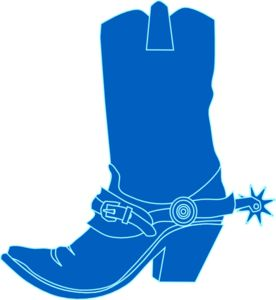 Cow Boy Boots Clipart.