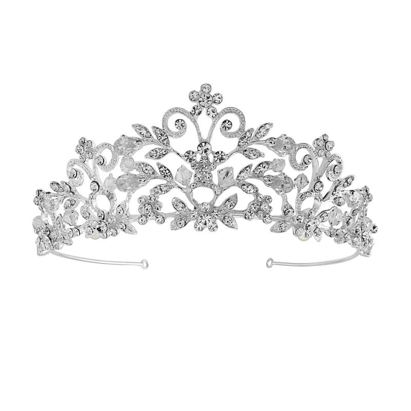 Amelia crystal bridal tiara, vintage wedding tiara.