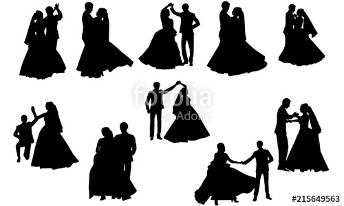 Wedding Dance Silhouette.