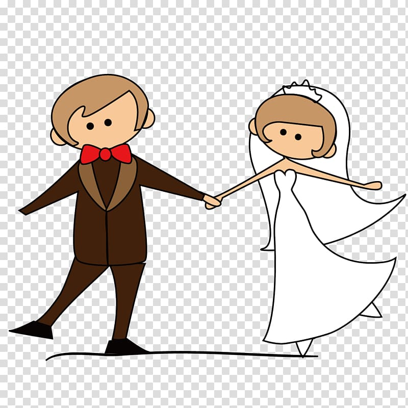 Wedded couple dancing illustration, Wedding invitation.