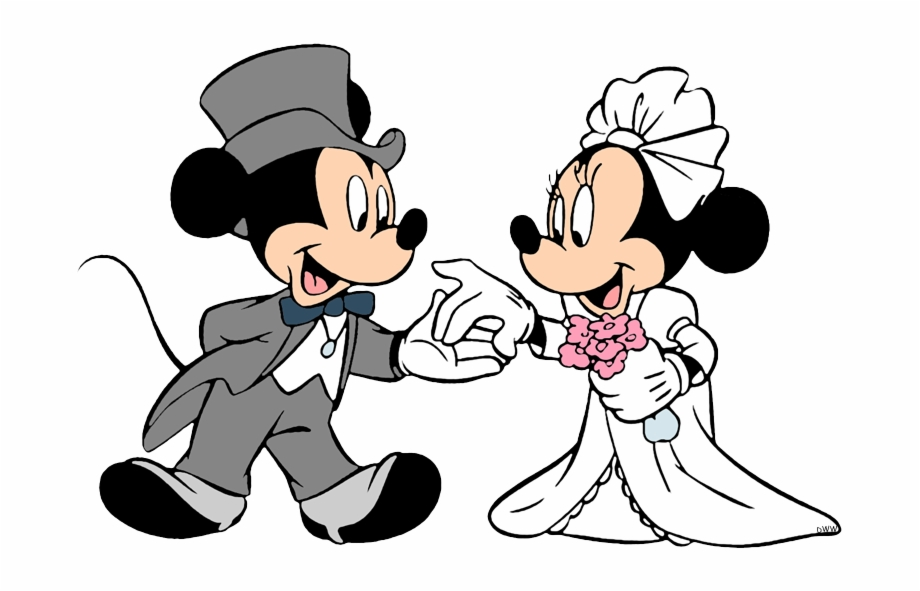 Groom Mickey Bride Minnies Wedding Day Mickey And.