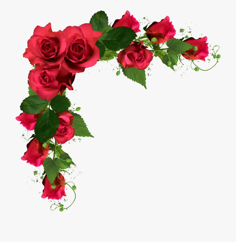 Beautiful Decor With Roses Png Clipart Picture.