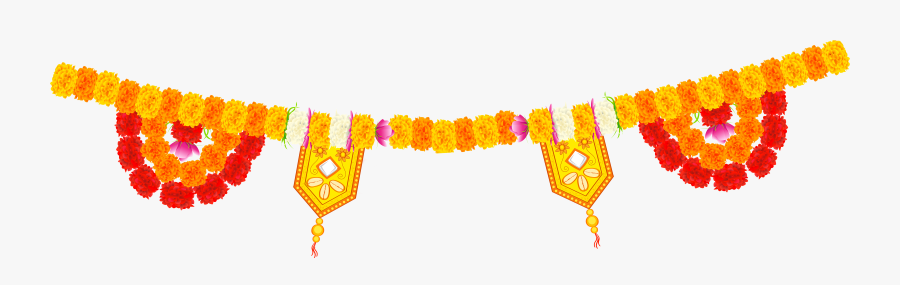 India Floral Decor Png Clip Art Image.