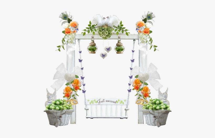 Wedding,swing,wedding Decorations,flowers,.