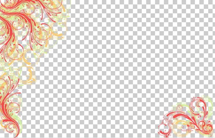 Wedding invitation Desktop , Floral Background , red and.