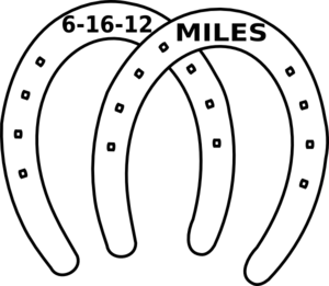 Miles Date Two Horseshoe Clip Art at Clker.com.