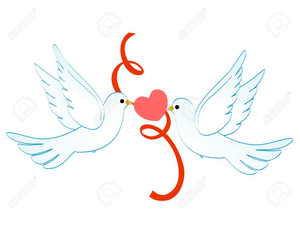 Two Doves Clipart Free.