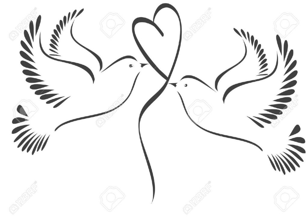 453 Doves free clipart.