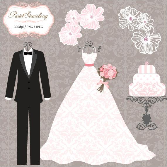Luxury Wedding Dress & 2 Tuxedos.