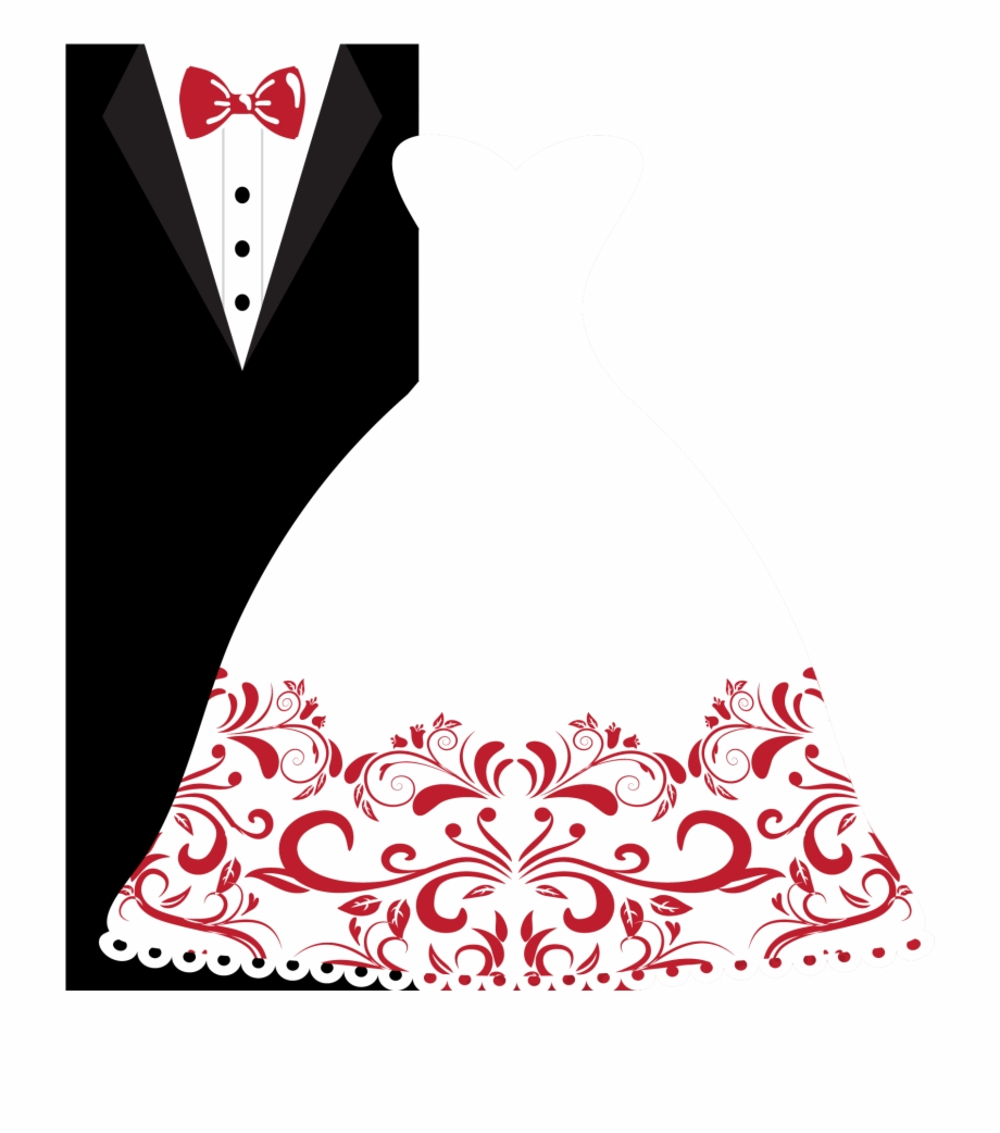 Wedding Invitation Bridegroom Wedding Dress Clip Art.