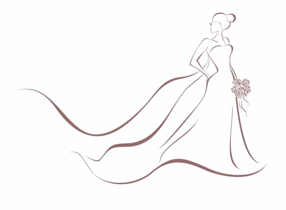 Wedding Invitation Bride Dress Clip Art.
