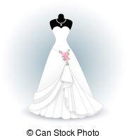Wedding dress Vector Clipart EPS Images. 11,577 Wedding dress clip.